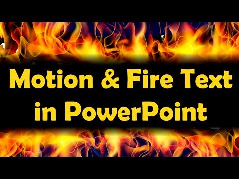 amazing motion and fire text effects - advanced powerpoint, Powerpoint templates