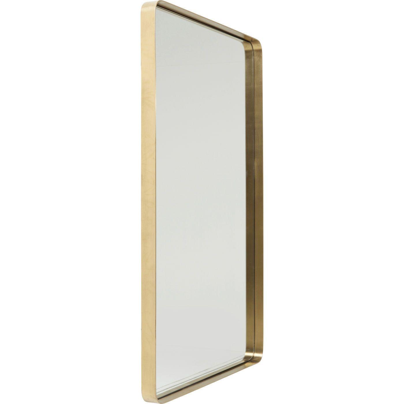 Spiegel Curve Rectangular Brass 120x80 Messing Badezimmer Spiegel Grosser Spiegel