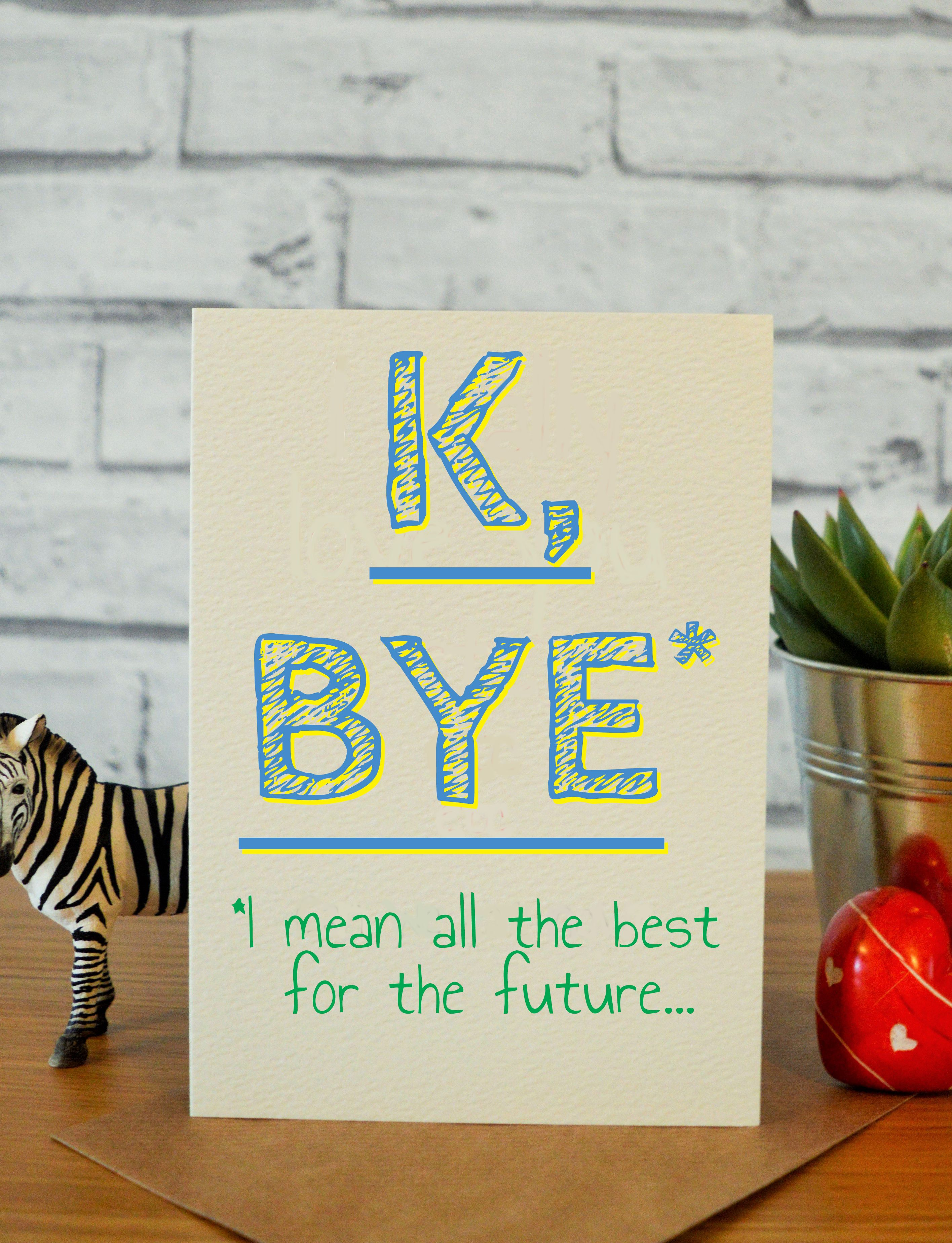 Congratulations Card Well Done Card New Job Gift Sorry You're Leaving