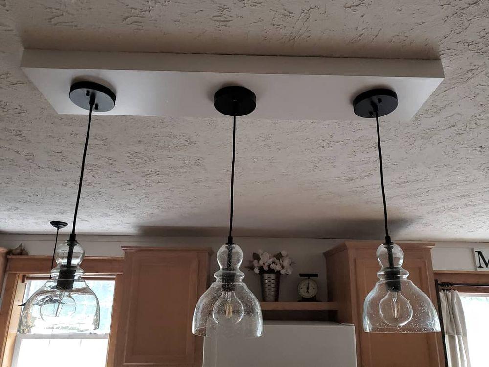 How To Make A Kitchen Island Pendant Light Box Diy Island Pendant Lights Light Box Diy Kitchen Island Lighting