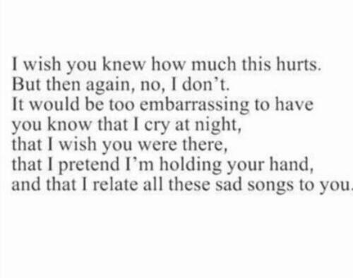 ~I Wish You Knew~