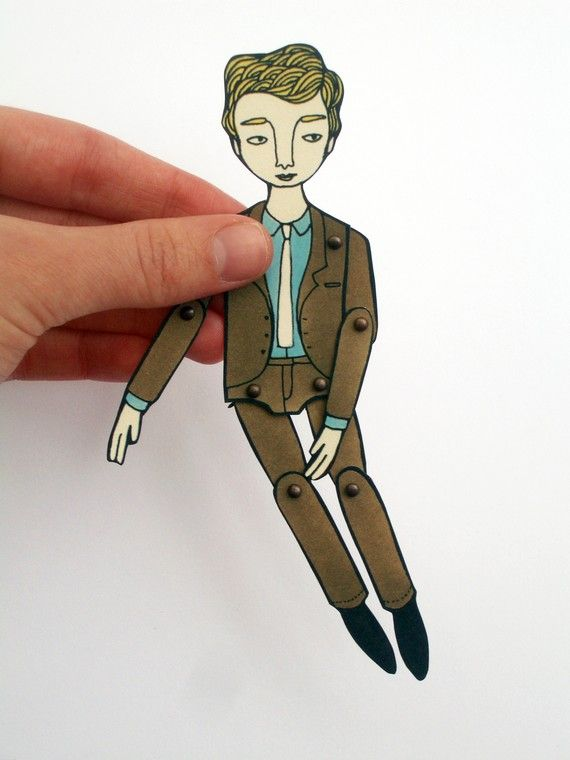 miniature movable paper doll