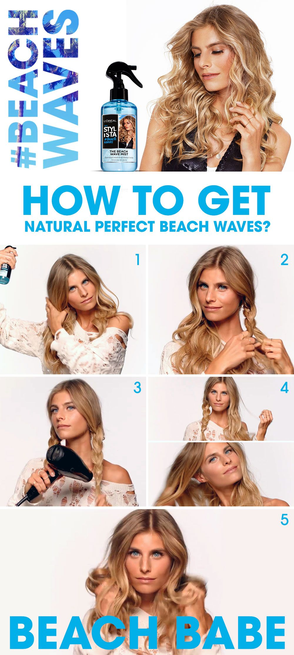 8170b49bdca How to get perfect beachwaves  Right on time for summer with ...