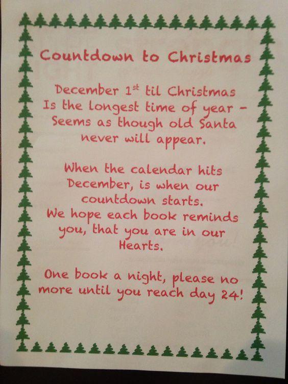 Advent Calendar Poem Christmas Advent Calendar Christmas Poems Christmas Books
