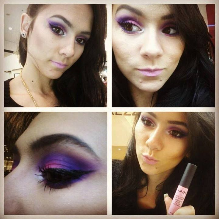 Maquiagem da consultora Brisa do Beauty Team da NYX do Shopping Parque D. Pedro
