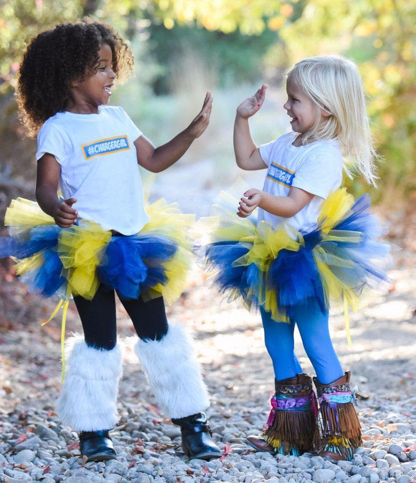 Classic Short San Diego Chargers Football Tutu
