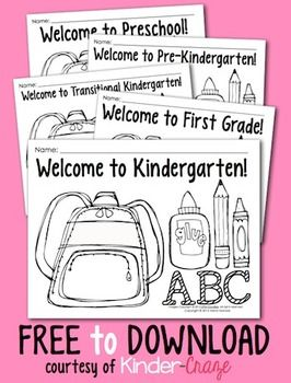 Coloring Pages for Back to School {Pre-K-1 classrooms} | Back to ...