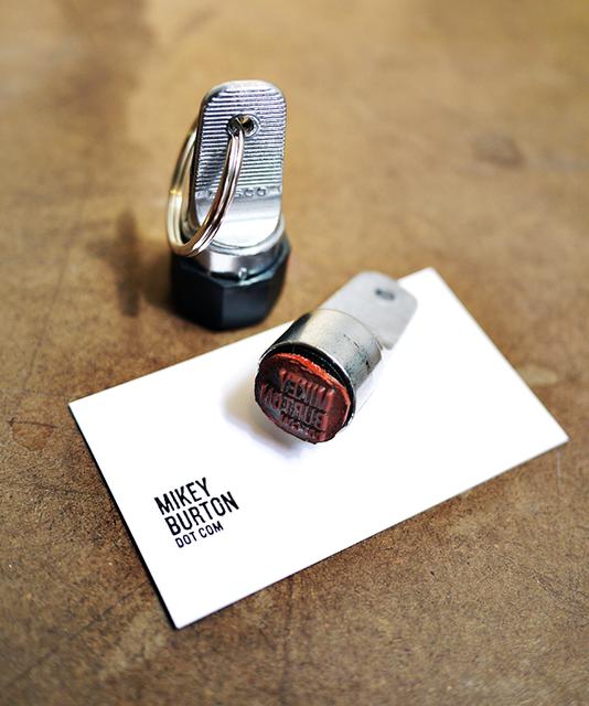 Fancy Business Card Stamp Keychain Zero Waste Upcyclingdiy