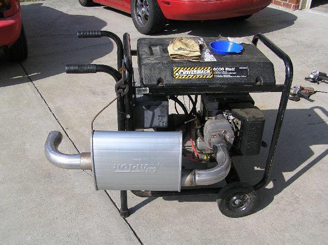 Make A Generator Quiet By Using An Old Muffler Diy