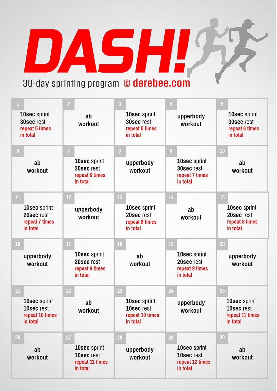 Dash! Sprinting Program in 2020 Sprint workout, Soccer