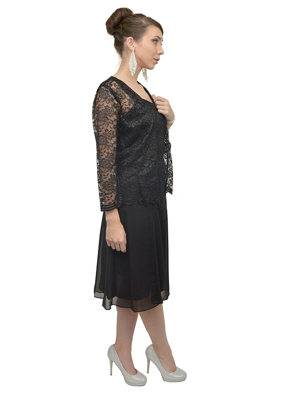 144731a5099 The Dress Outlet Short Mother of the Bride Church Dress with Jacket at  Amazon Women s Clothing store