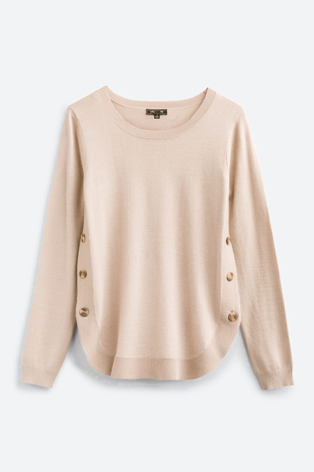 Lety Me December Button Detail Pullover In Tan Stitch Fix Outfits Stitch Fix Pullover [ 1500 x 1000 Pixel ]