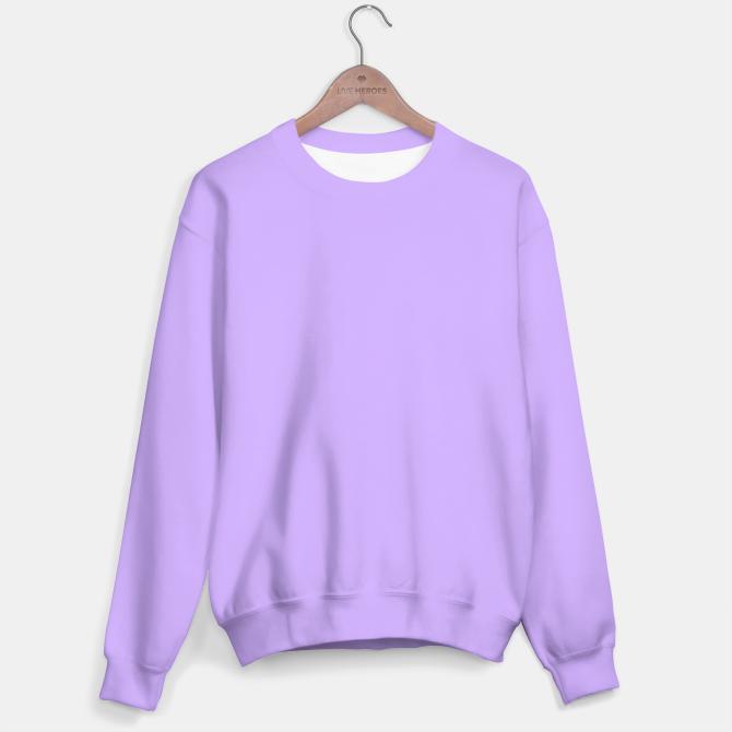 Lavender Flat Color Sweater