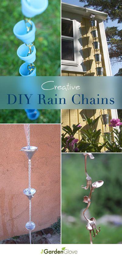 Creative Diy Rain Chain Ideas Garden Art Garden Crafts 640 x 480