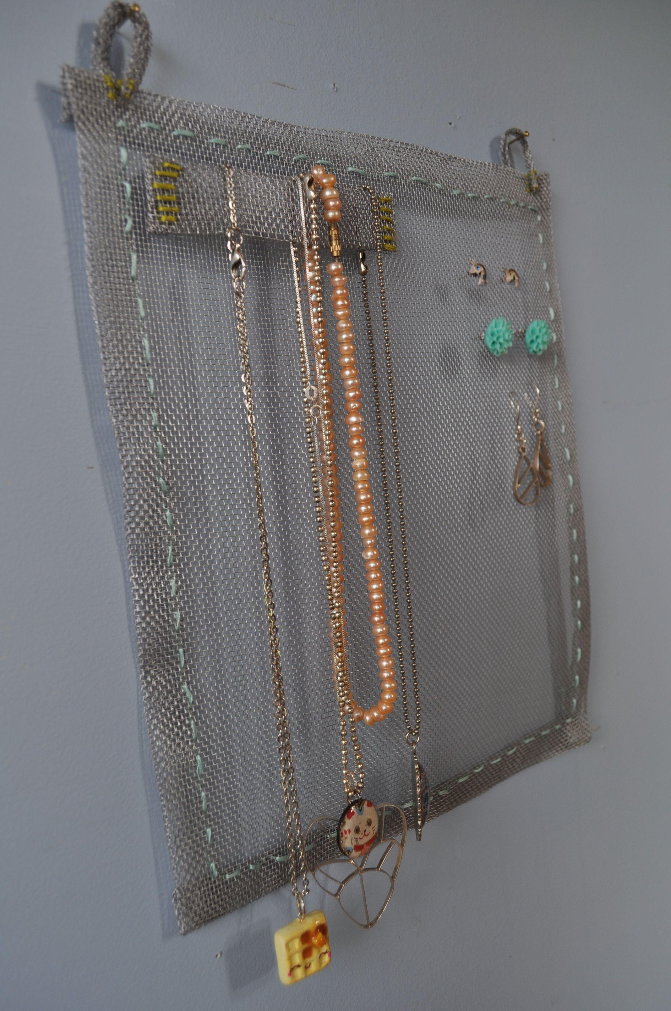 Hand Sewn Window Screen Jewelry Organizer You Craft Me Up