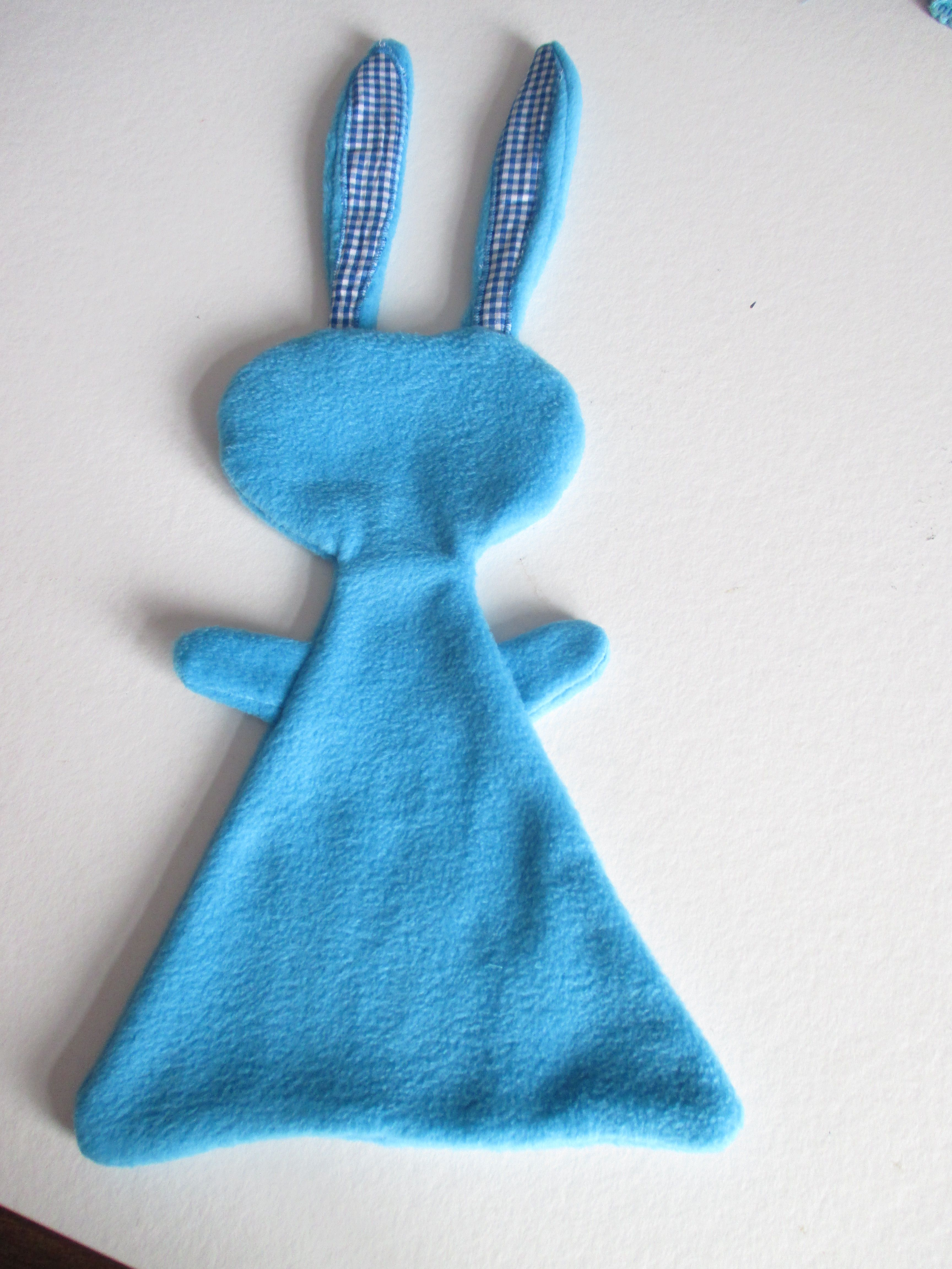 Konijn knuffeldoek van fleece knuffels pinterest baby and fabric