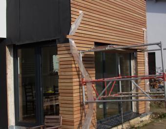Fasadenverkleidung Haus mit Lrchenholz HolzVerkleidung