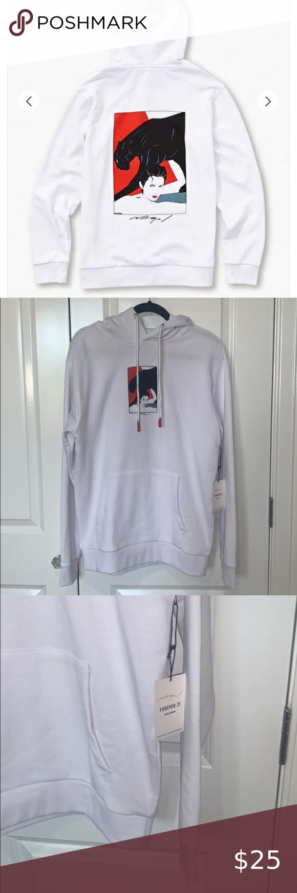 Patrick Nagel X Forever 21 Hoodie Sweatshirt Shirt Hoodies Forever 21 Shirts [ 1740 x 580 Pixel ]