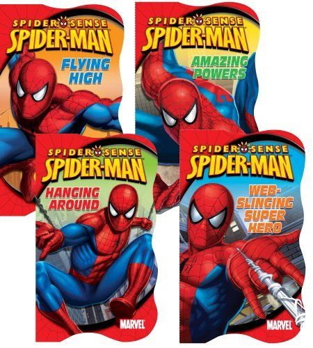 Spider Man 4 Board Book Set By Bendon 15 99 Captivates The Attention For Hours Of Learning Highly Educational Book Set Educational Books Kids Learning Toys