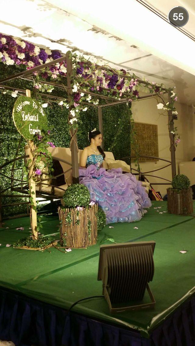 enchanted garden theme debut  18th birthday  swing