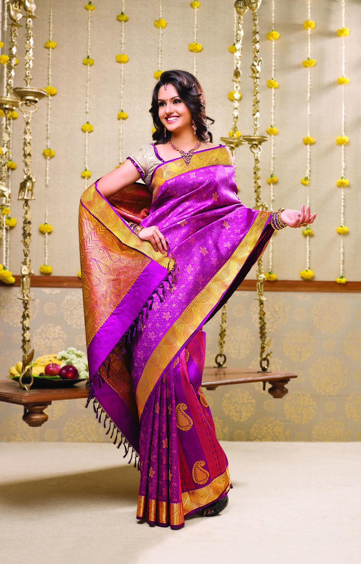 Rmkv Purple Wedding Saree Collection Pinterest Wedding Saree