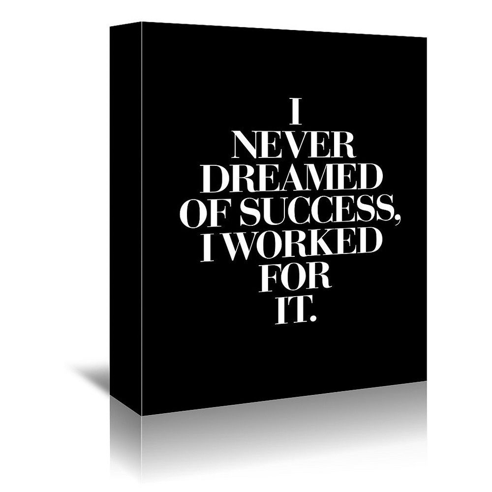 Americanflat - I Never Dreamed Of Success I Worked For It Black by Motivated Type - 16