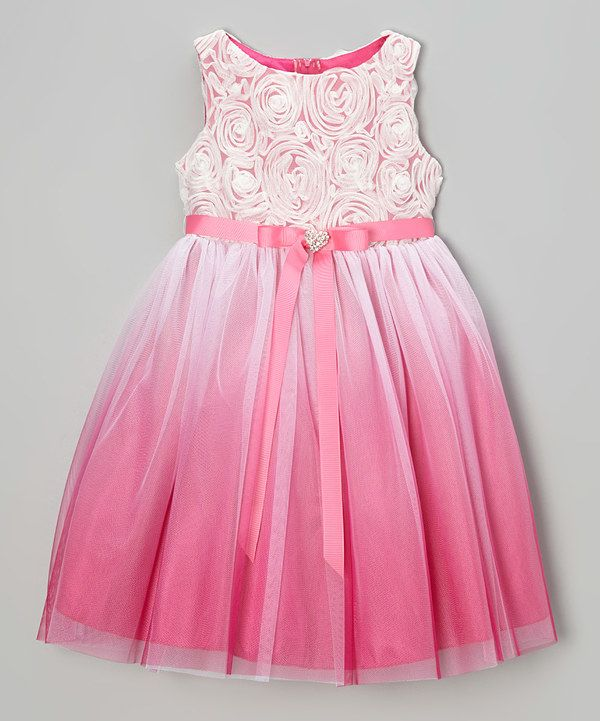 Look at this Kid's Dream Fuchsia Heart Sash Dress - Toddler & Girls on #zulily today!