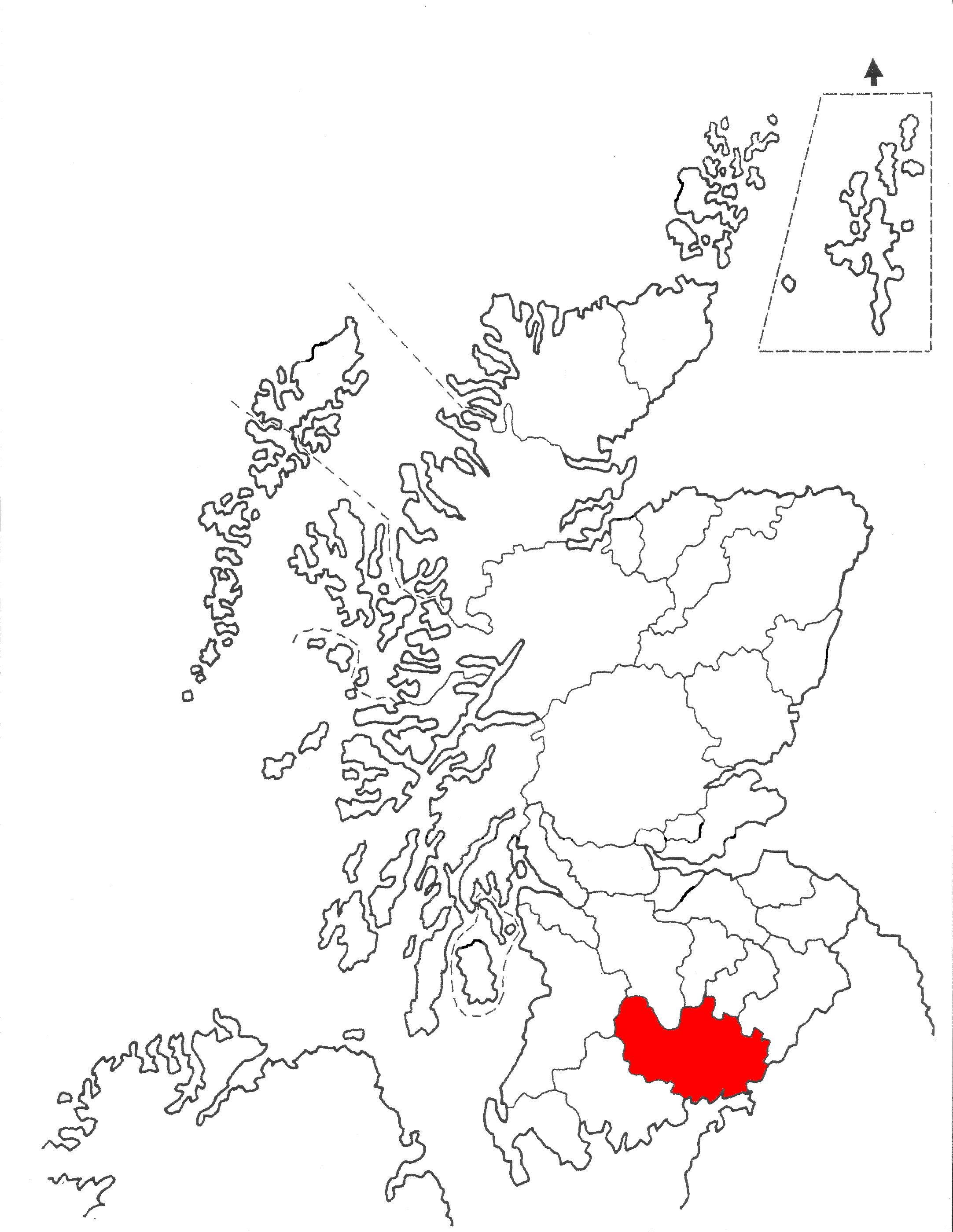 Dumfriesshire Scotland Genealogy Learn Scotland Map Genealogy Scotland
