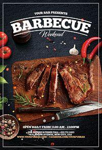 Barbecue Bbq Restaurant Promotion Flyer  Flyer Design Inspiration