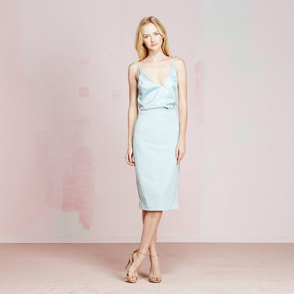 Jennifer Skirt | vivianchan - #earlygrey #pastelblueskirt #summerskirt #summerisVIVIANCHAN #summer2015