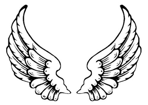 Eagle Wing Tattoo Coloring Pages