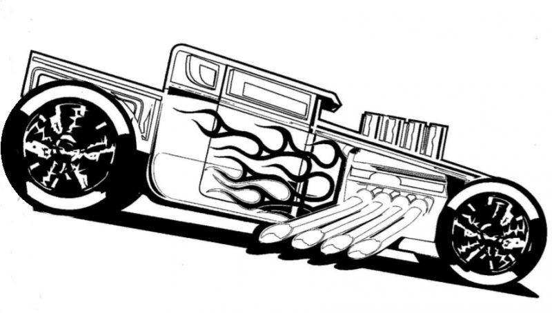 Dibujo para colorear: Hot wheels (Transporte) #6 - Páginas para ...