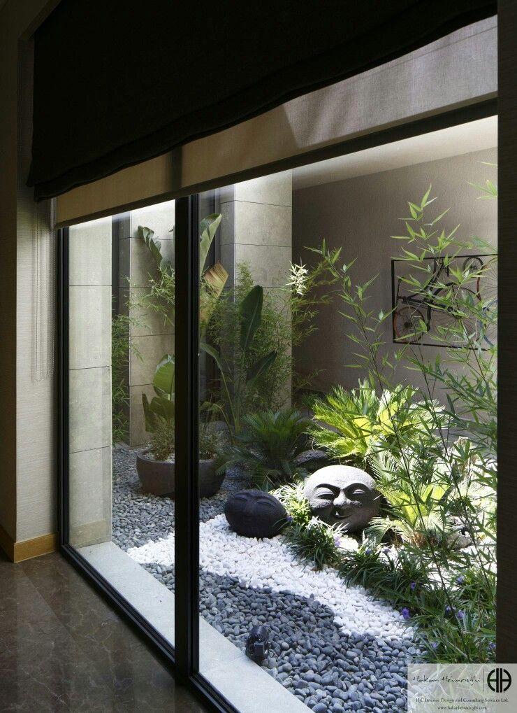 Columna dise o patios con cerramiento pinterest for Disenos de jardines y patios