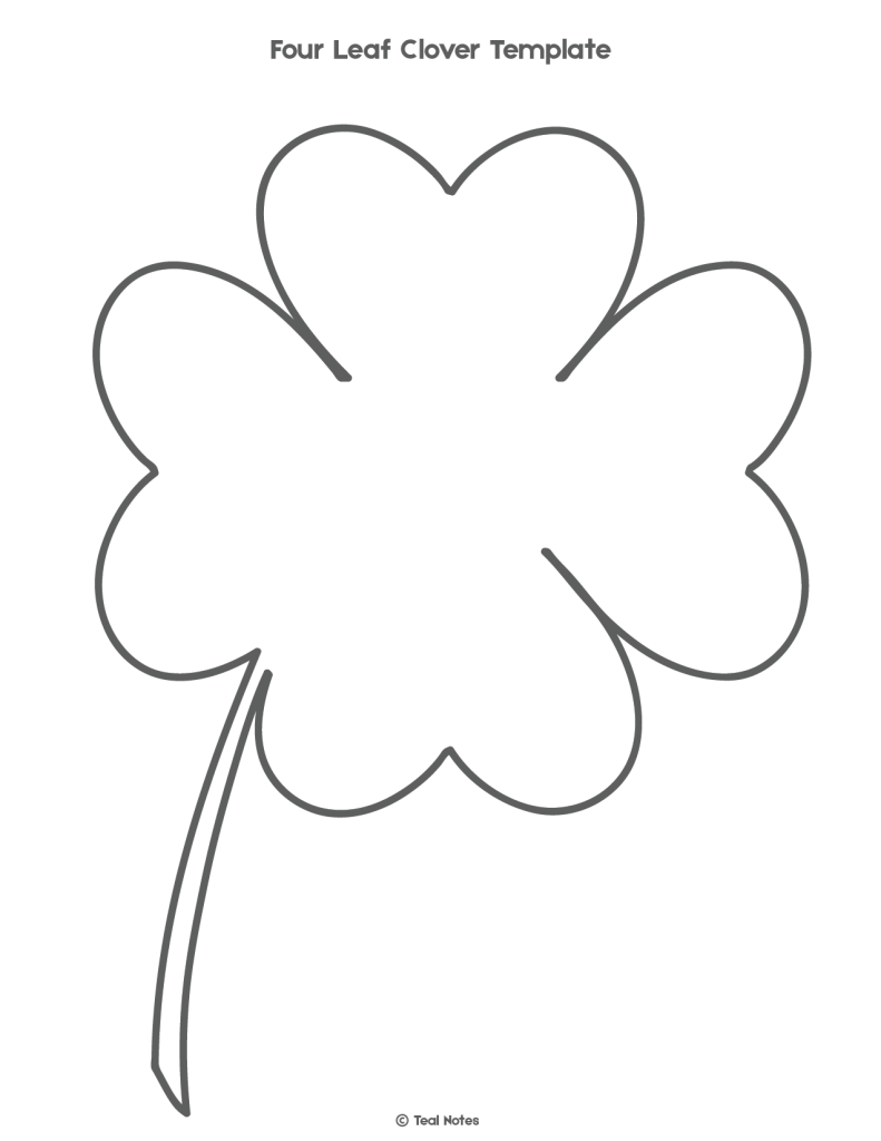 - Four Leaf Clover Template: Free Shamrock Template Printable