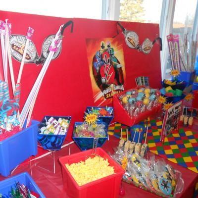 Power Ranger Birthday Party Spread