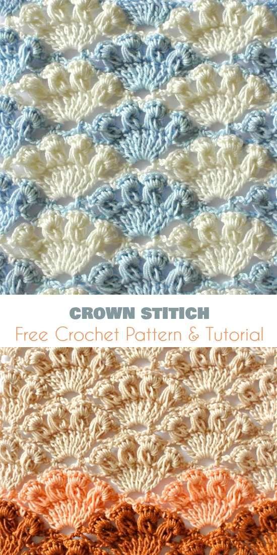 Crown Stitch [Free Crochet Pattern and Video Tutorial] | Вязаная ...