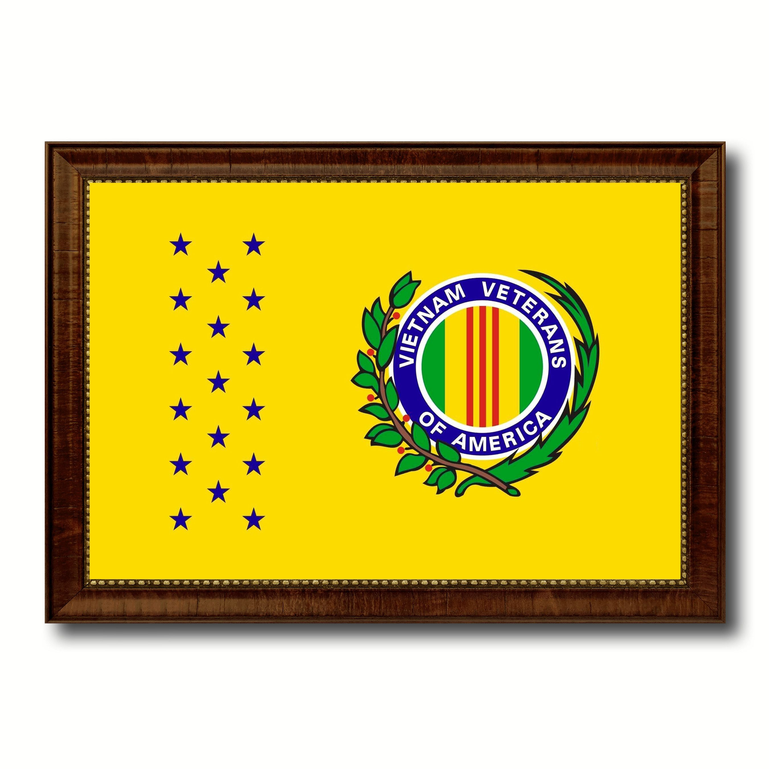Vietnam War American Veterans Military Flag Canvas Print with Brown ...
