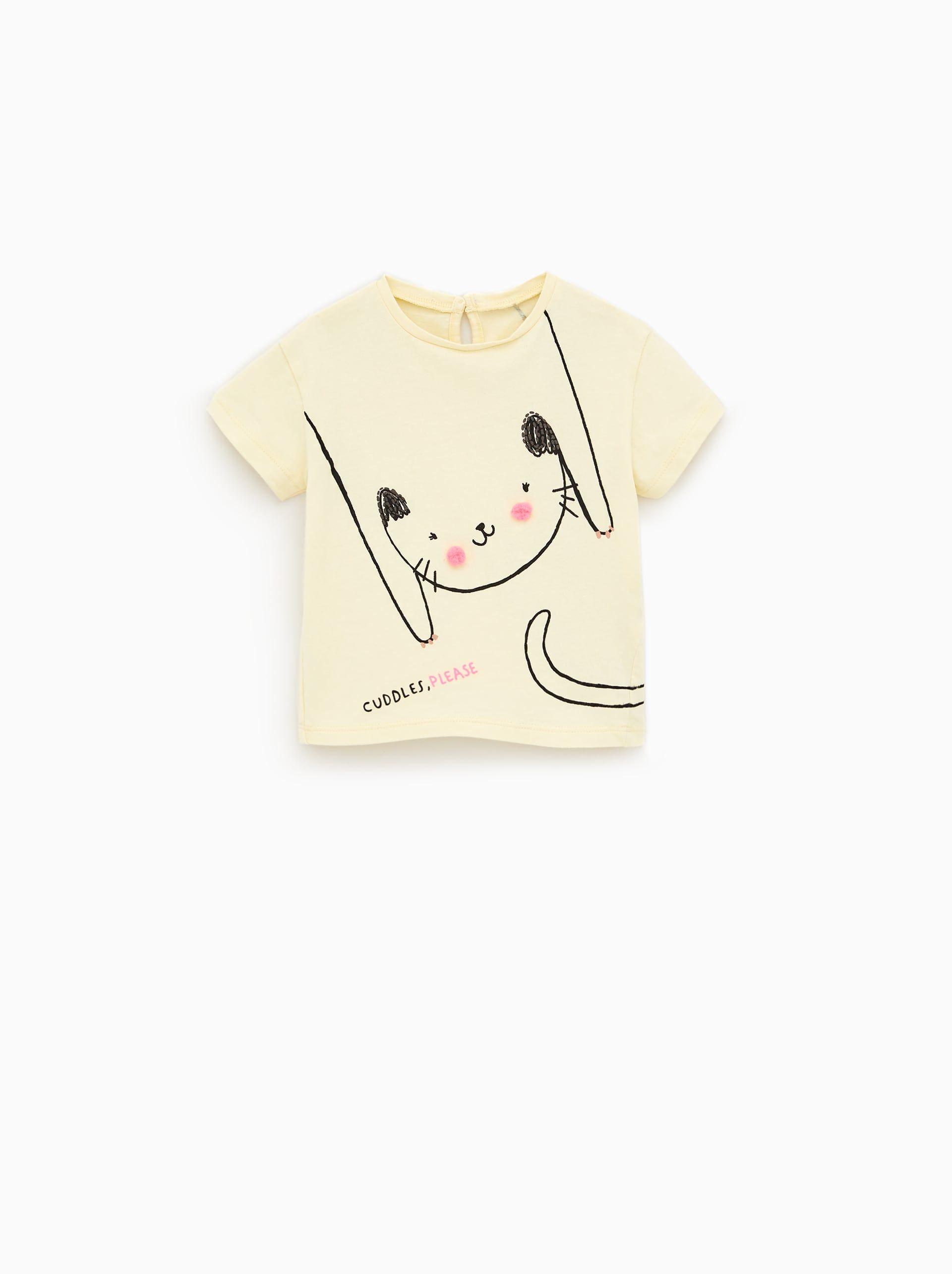 Imagen 1 de CAMISETA GATO POMPONES de Zara | Camisetas gatos
