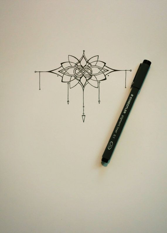 Knot and Lotus Tattoo | Etsy