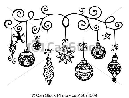 Pix For Christmas Ornament Clip Art Black And White Free Christmas Sketch Christmas Doodles Christmas Drawing