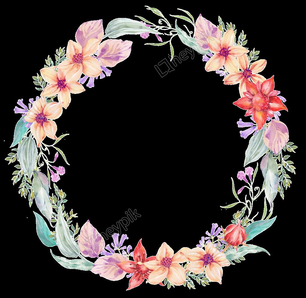 Corona De Flores Transparente Y Delicada Flor Png Fondos De Coronas Circulo De Flores Flores