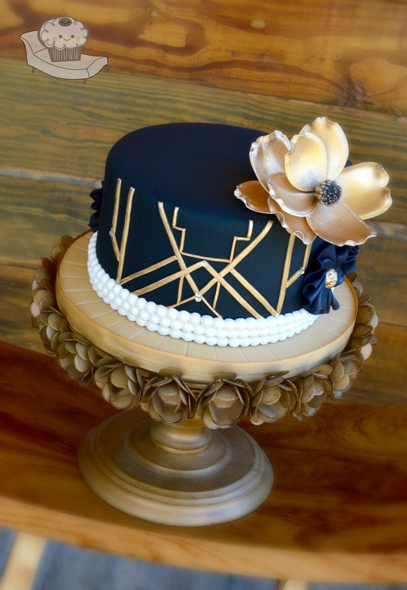 Great Gatsby Small Cake Gatsby Cake Gatsby Birthday Party