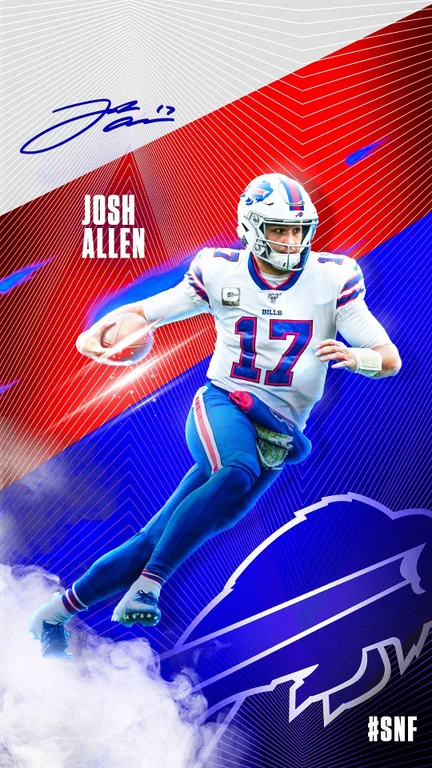 Official Snf Josh Allen Phone Wallpaper Buffalobills Buffalo Bills Football Bills Football Buffalo Bills
