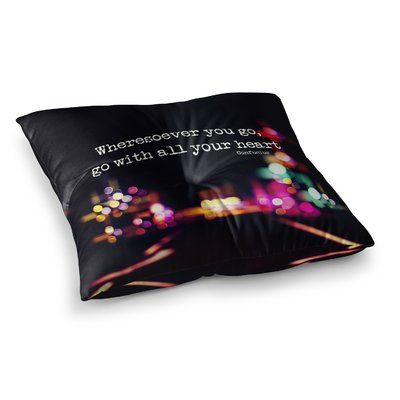 East Urban Home Road Trip Neon by Ingrid Beddoes Floor Pillow Size ...