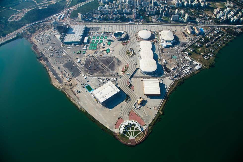 Vista aérea do Parque Olímpico, no Rio. Olympic Park in Rio de Janeiro.