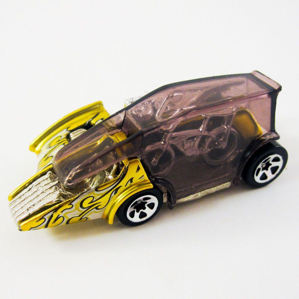 Hot Wheels Motor Psycho Die Cast Gold Car W Schwinn Bike Release