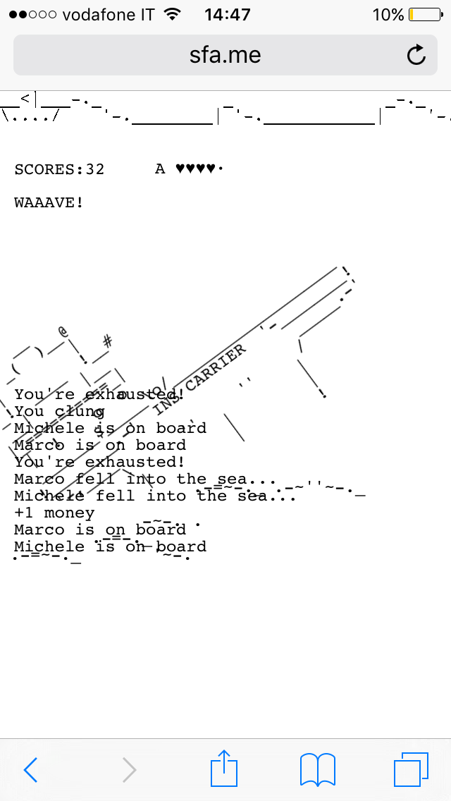 Ajax Boat Sfame Iphone Screenshots Awesome Pinterest Ascii Art
