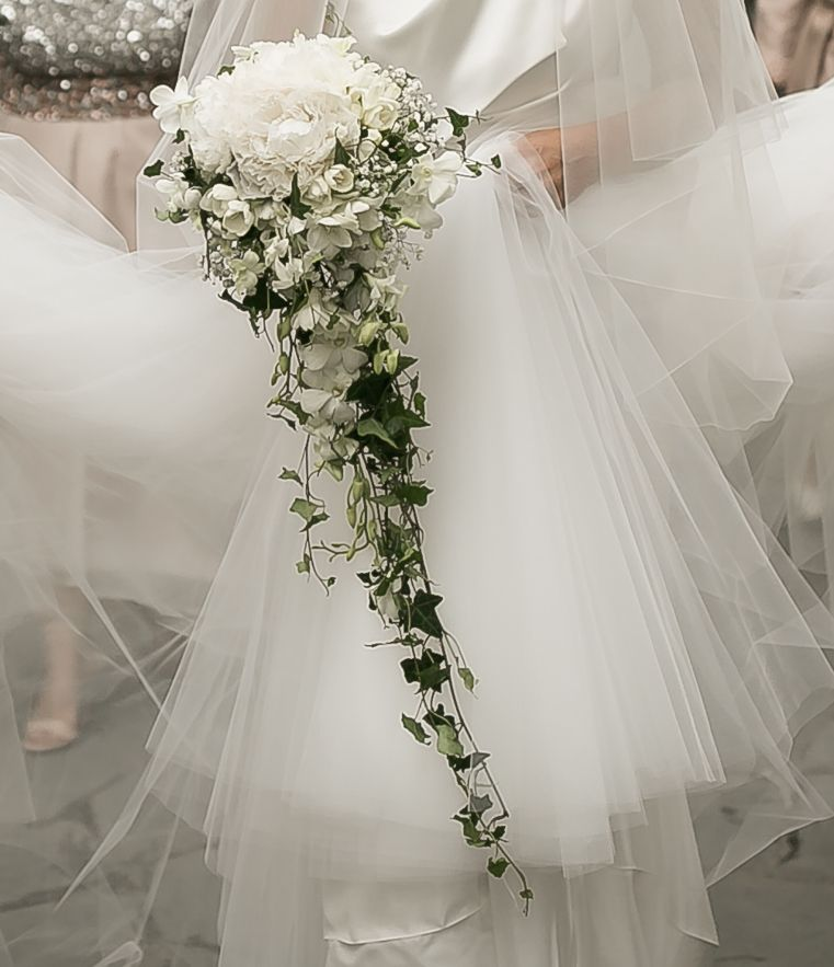 Bouquet Sposa Edera.White Roses And Ivy Bouquet