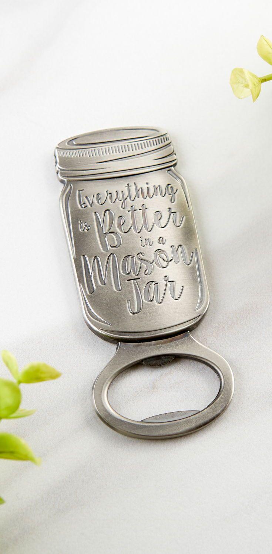 Mason Jar Bottle Opener | Bottle opener, Favors and Bridal showers