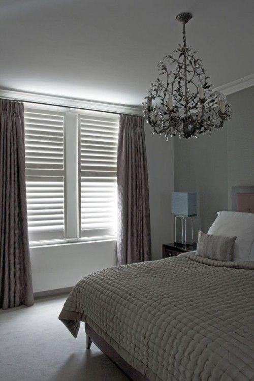 89mm blade, white painted tulipwood, Manhattan shutters | slaapkamer ...